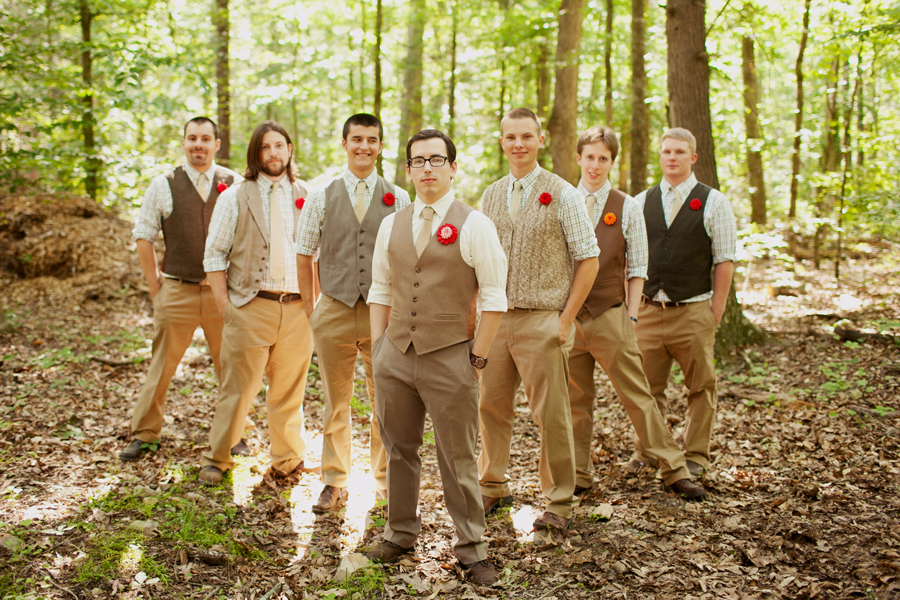 shabby chic wedding: men